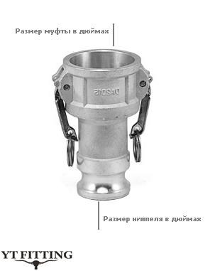 Камлок тип DA — переходник муфта на ниппель