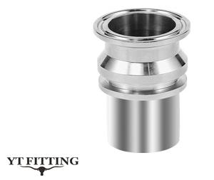 Соединение Tri clamp тип SUT-MH  — фитинг с гладким патрубком и буртиком под шланг