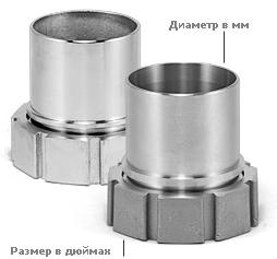 Внутренняя резьба BSP-P × гладкий патрубок с буртиком под шланг (GI)